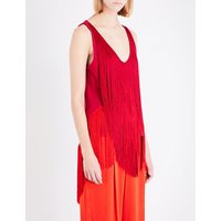 Fringed crepe top