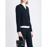 Stella Mccartney Ladies Black Modern Peyton Double-Breasted Stretch-Wool Jacket, Size: 4