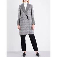 Stella Mccartney Ladies Black Odelia Checked Wool-Blend Coat, Size: 2