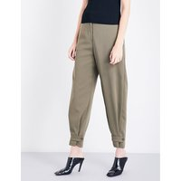 Stella Mccartney Ladies Practical Lexi High-Rise Wool Twill Trousers, Size: 8