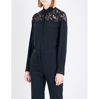 Stella Mccartney Ladies Frederica Lace And Silk-Crepe Shirt, Size: 4
