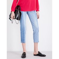 Kim straight cropped mid-rise jeans