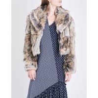 Stella Mccartney Ladies Grey Masha Faux-Fur Cropped Jacket, Size: 6