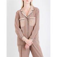 Stella Mccartney Ladies Comfortable Goodwin Silk-Crepe De Chine Shirt, Size: 6