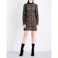 Stella Mccartney Ladies Black Floral Lace Expertly constructed Ciyla Mini Dress, Size: 8