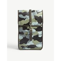 Camouflage print rubberised backpack