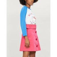Kitty motif cotton-jersey top