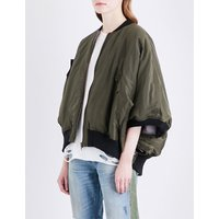 Motley batwing-sleeve shell jacket