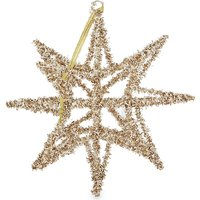 Tinsel star Christmas decoration 15cm