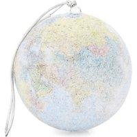 Glitter globe hanging ornament 6cm