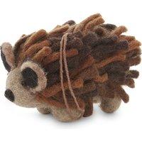 Wool hedgehog decoration