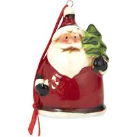 Ceramic Santa hanging decoration