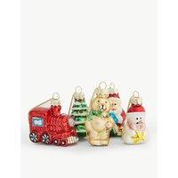 Mini glass christmas decorations set of 12