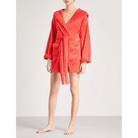 Currently sleeping fleece robe