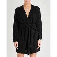 Mina wool-blend robe