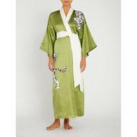 Queenie silk robe