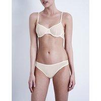 Bodas Sheer Tactel underwired bra, Women's, Size: 32B, Blush pink