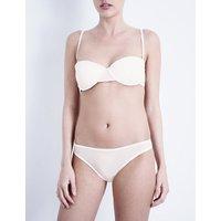 Bodas Sheer Tactel strapless balconette bra, Women's, Size: 32B, Blush pink