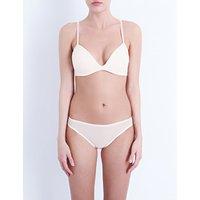 Bodas Sheer Tactel padded bra, Women's, Size: 32B, Blush pink