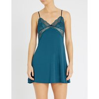 Sabine stretch-jersey and lace chemise