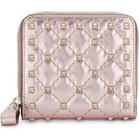 Rockstud quilted leather purse