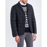 Down-filled wool-twill blazer