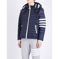 Striped-sleeve quilted jacket