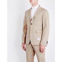 Regular-fit cotton-twill blazer