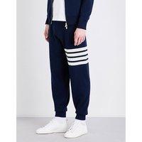 Stripe-detailed cashmere jogging bottoms