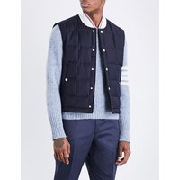 Quilted wool-twill gilet