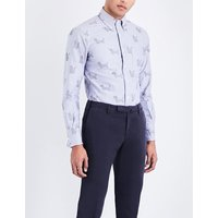 Hector-embroidered regular-fit cotton Oxford shirt