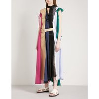 Hybrid cotton, chiffon and satin dress