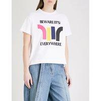 Beware cotton-jersey T-shirt