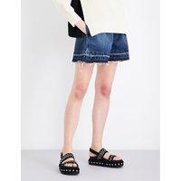 Sacai x Levi's released-hem denim shorts