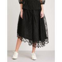 Asymmetric lace skirt