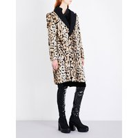 Mentalist leopard-print faux-fur coat