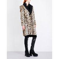 A.F.Vandevorst Ladies Classic Mentalist Leopard-Print Faux-Fur Coat, Size: 8