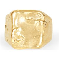 Starless Sky 24 carat gold-plated signet ring