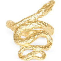 Medusa 24kt gold-plated bronze ring