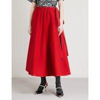 弓-点缀 尼龙 midi 裙子