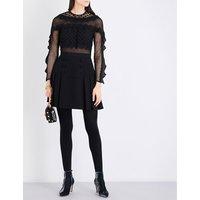 Bellis lace-trim mini dress