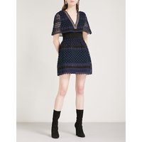Guipure Cape mini dress