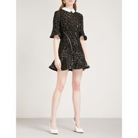 Sequin embroidery mini dress