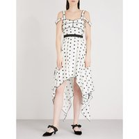 Printed Star Handkerchief satin dress
