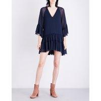 Zoey ruffled chiffon tunic dress