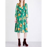 Coco silk-blend dress