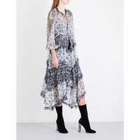 Divinity ruffled silk-chiffon dress