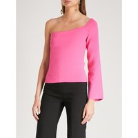 Renata one-sleeve stretch-knit top