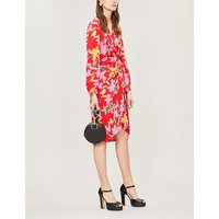Carla floral-print crepe wrap dress