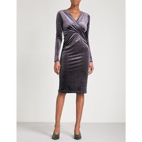 Flockton crossover velvet dress